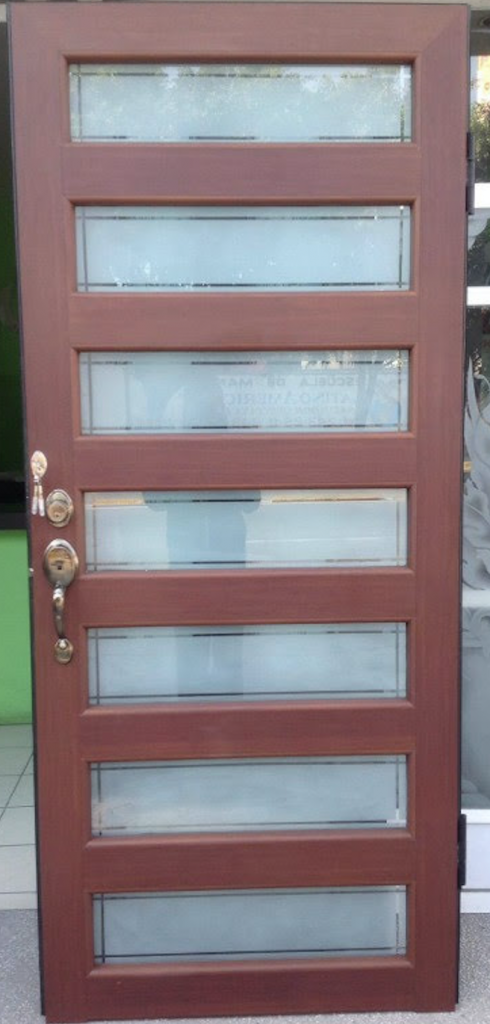 Puertas de aluminio cristal templado y aluminio en puebla - Cristales decorados para puertas ...
